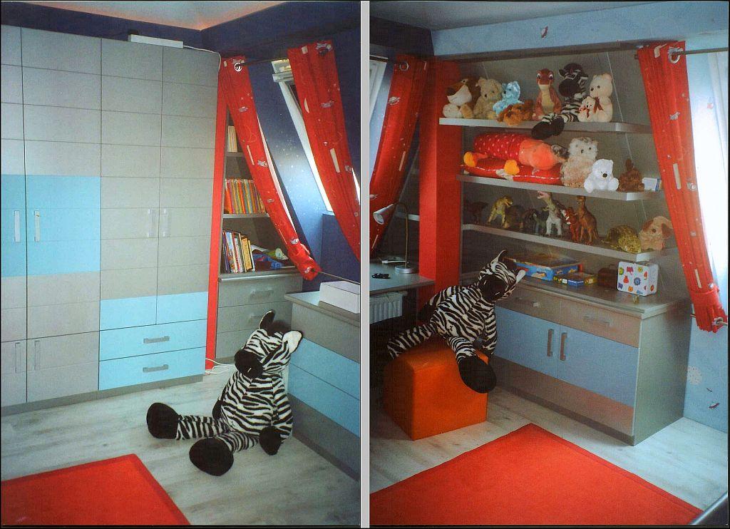 zebrás kék-ezüst szoba